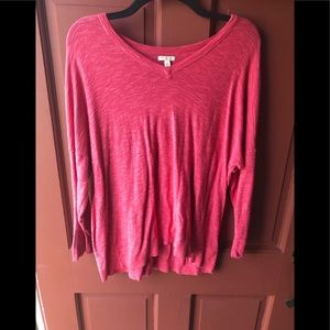 Sonoma XL lightweight pullover pink sweater